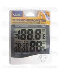 Termohigrometro pantalla digital grande con sonda