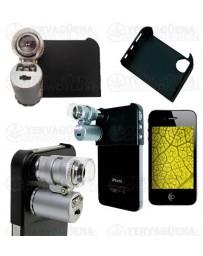 Lupa de bolsillo LED 45x con carcasa para Iphone
