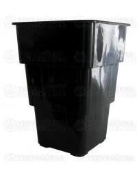 Maceta Air Max negra cuadrada