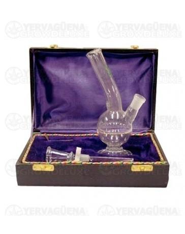 Pipa de cristal en caja 15cm