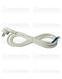 Clavija inyectada en cable 2m