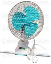 Ventilador Pinza oscilante blanco