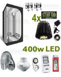 Kit Armario Completo 120x120x200 4 x 100w LED