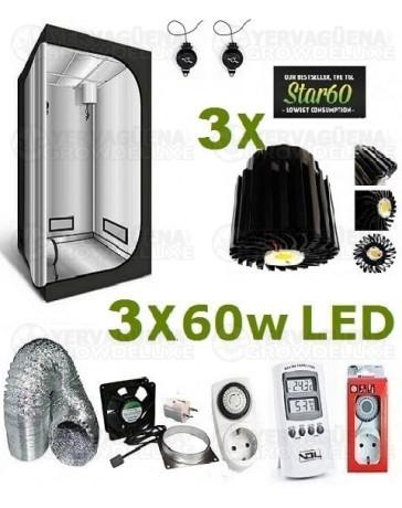Kit Armario Completo 80x80x160 3x60w LED