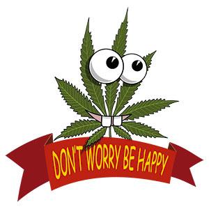marijuana leaf message