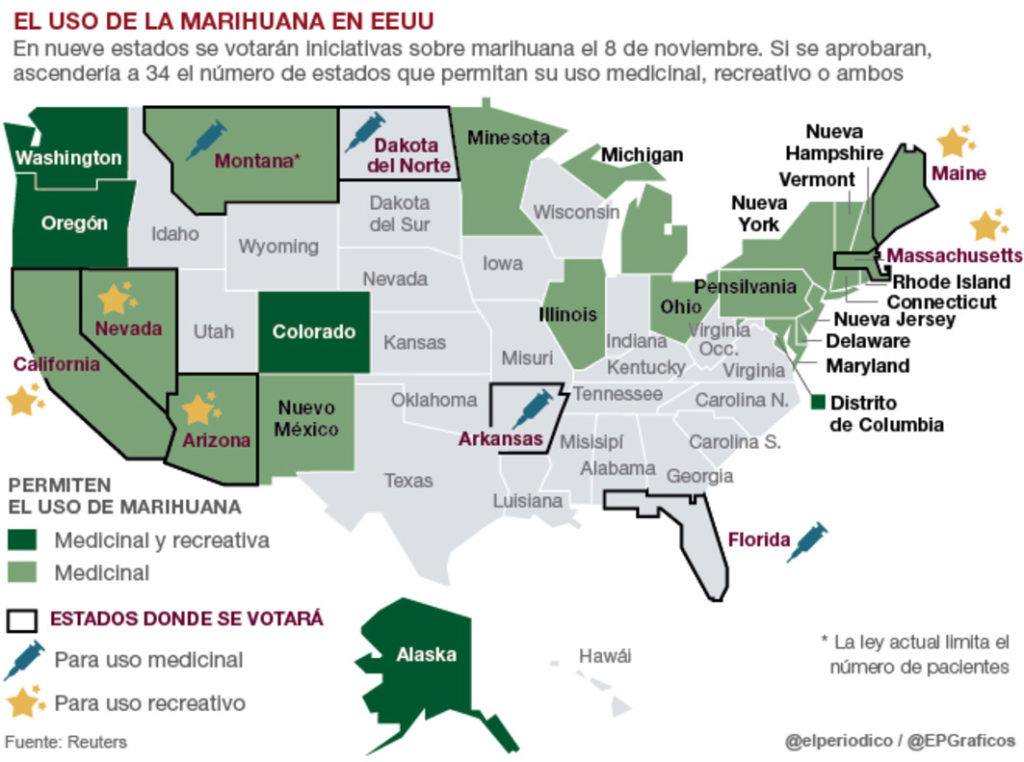 united states in favor of marijuana