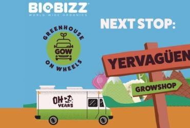 El camión invernadero de Biobizz visita Yervagüena