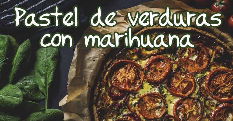 pastel verduras marihuana